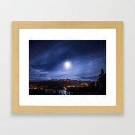 Moon's halo Framed Art Print