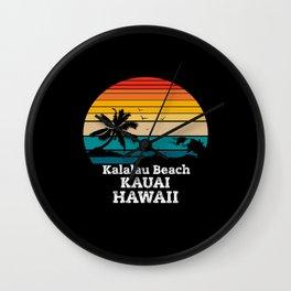 Kalalau Beach gift Wall Clock