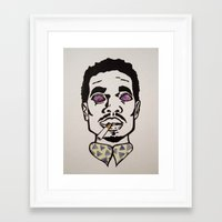 chance the rapper Framed Art Prints featuring Chance the Rapper by Sara Wong