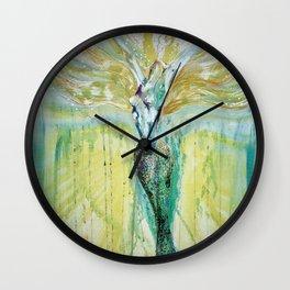 Mermaid Awakening Wall Clock