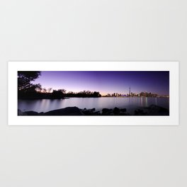Toronto Nightscape Panorama Art Print