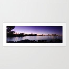 Toronto Nightscape Panorama Art Print
