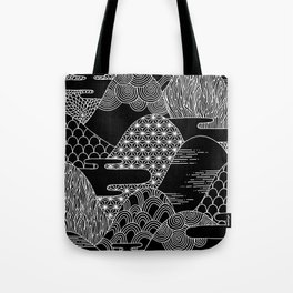 Cosmic Mountains Tote Bag