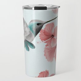 Hummingbird with Hibiscus Travel Mug