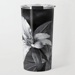 Trillium - Black and White Travel Mug