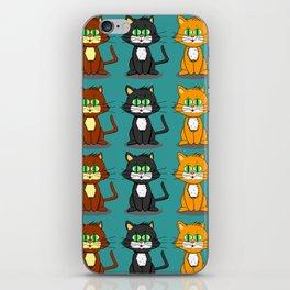 Cute Kawaii Cat illustration design iPhone Skin