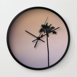 One Night One Palm Tree Wall Clock