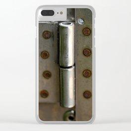 Metal hinge Clear iPhone Case