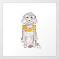 poodle Art Prints featuring Poodle by AmariaStudio
