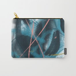 You: a vibrant, minimal, abstract mixed-media piece in blues, gold, and pink Carry-All Pouch