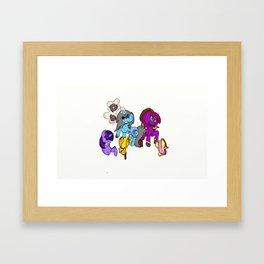 Zombie Ponies! Framed Art Print