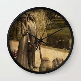 Sunday afternoon in the park Riga Latvia  Wall Clock