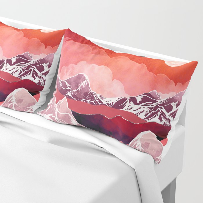 Scarlet Glow Pillow Sham