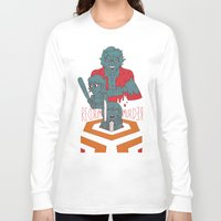 dramatical murder Long Sleeve T-shirts featuring REDRUM//MURDER by Derek Eads