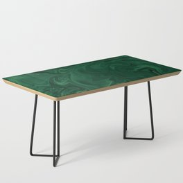 Modern Cotemporary Emerald Green Abstract Coffee Table