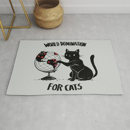 World Domination for Cats Rug