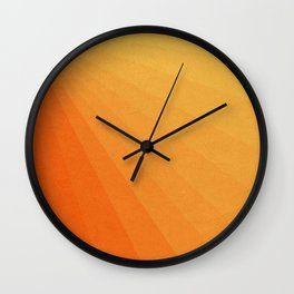 Shades of Sun - Line Gradient Pattern between Light Orange and Pale Orange Wall Clock