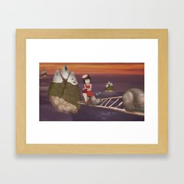 Mountains of the South West Framed Art Print