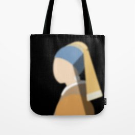 Girl with pearl earring Tote Bag