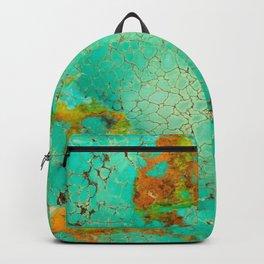Crackeled Turquoise Stone Backpack