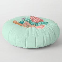Mermaid Mommy and Baby Boy Floor Pillow