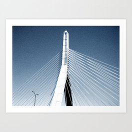 Zakim Bridge Art Print