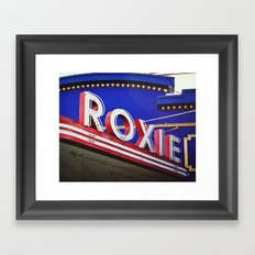 Vintage Theater Sign, San Francisco Framed Art Print