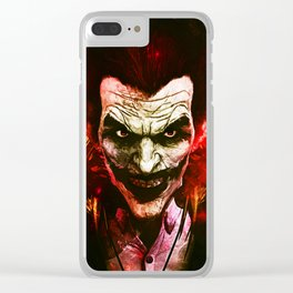 joker red Clear iPhone Case