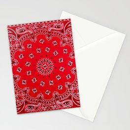 Paisley - Bandana Art - Red - Southwestern Stationery Cards