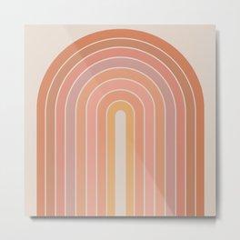 Gradient Arch - Natural Tones Metal Print