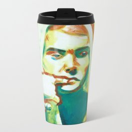 The Franciscan Padre as Painted-Up Mary Metal Travel Mug