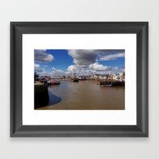 Bridlington Harbour Framed Art Print
