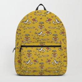 Cute Yellow Garden Flower Birds on Branch Backpack