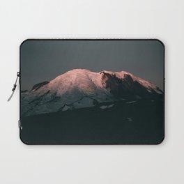 First Light on Mount Rainier Laptop Sleeve
