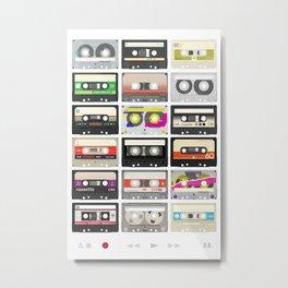 Cassettes (mixtape love) Metal Print