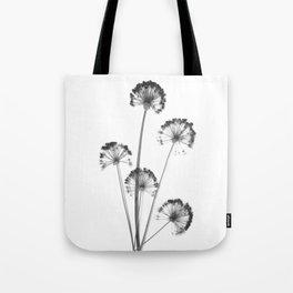 black and white flower wallpaper, flower decor, printable art Tote Bag