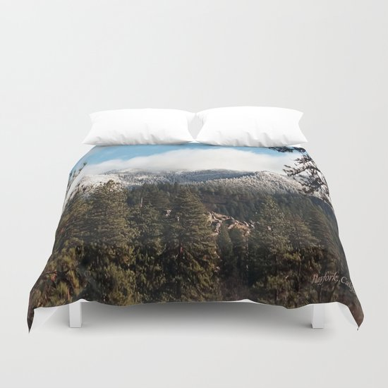 Yolla Bollies in the winter Duvet Cover