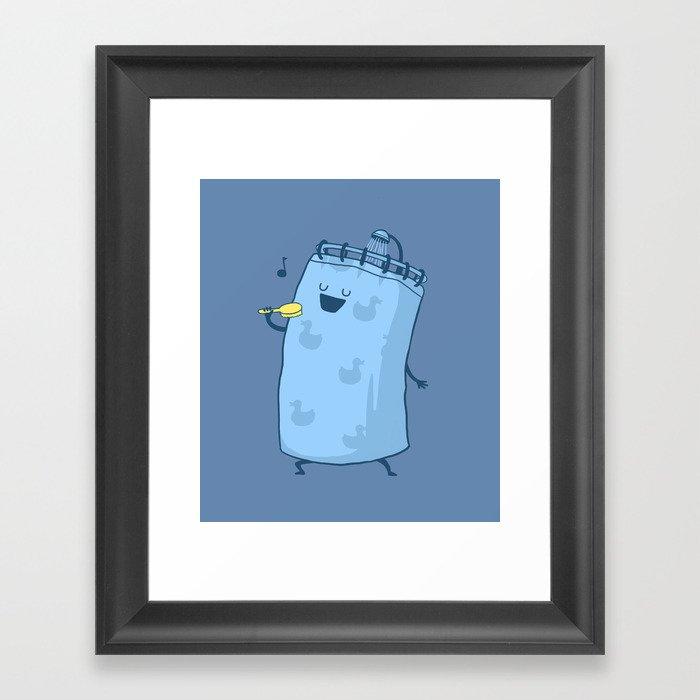 Singing In The Shower? Gerahmter Kunstdruck