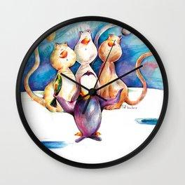 Miaumiaumiau Wall Clock