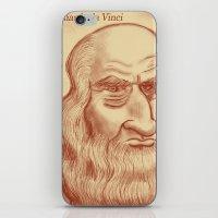 da vinci iPhone & iPod Skins featuring Leonardo da Vinci by Roberto Núñez