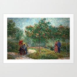 Vincent van Gogh - Couples in the Voyer d'Argenson Park at Asnières Art Print