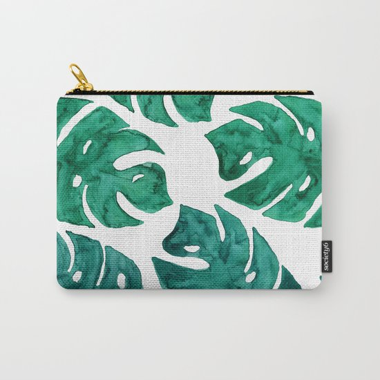 Watercolor Leafs II Carry-All Pouch