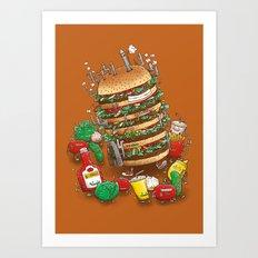 Uber BurgerBot Art Print
