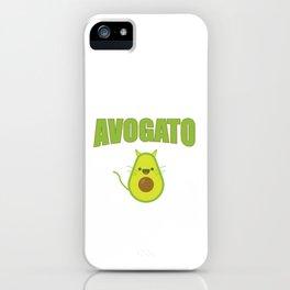 Avogato Funny Spanish Cat for Avocado Lover iPhone Case