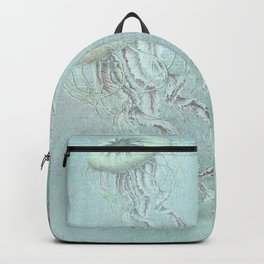 Jellyfish Underwater Aqua Turquoise Art Backpack