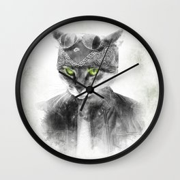 Biker Cat Wall Clock
