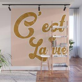 C'est la vie - French language saying Paris colorful art Wall Mural