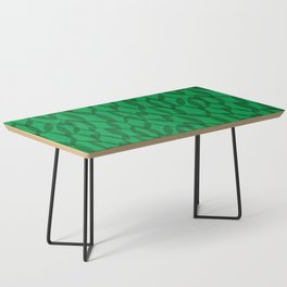 Overlapping Leaves - Dark Green Coffee Table
