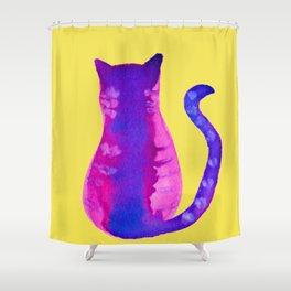 gato purpura Shower Curtain