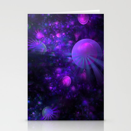 Jellyfish Fields Forever Stationery Cards